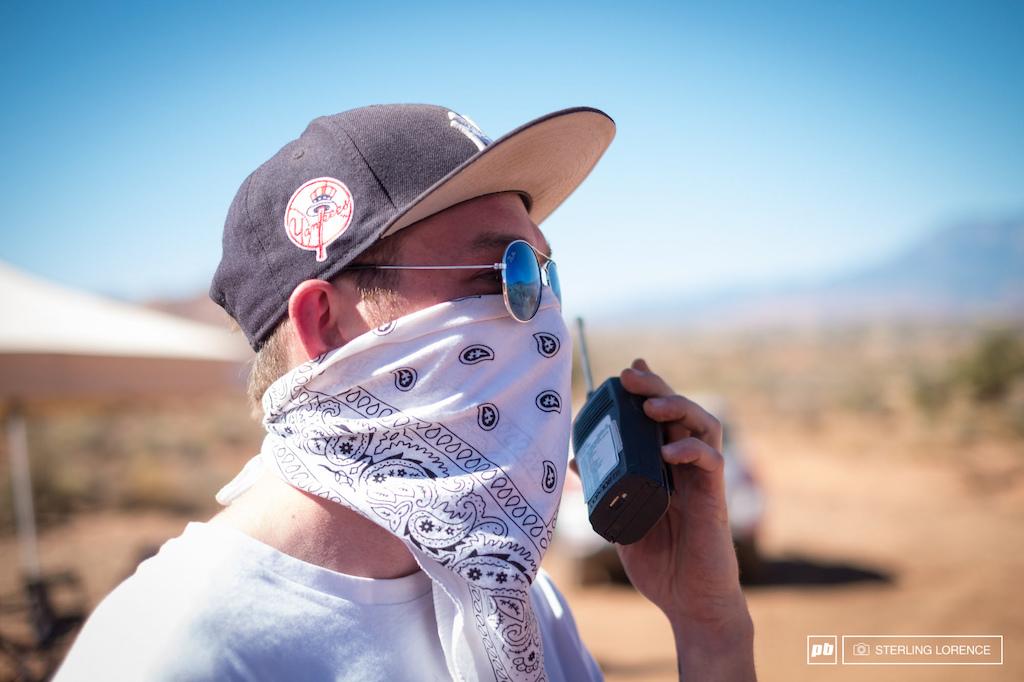 dusty road patrol at RedBull Rampage 2015 Virgin Utah USA