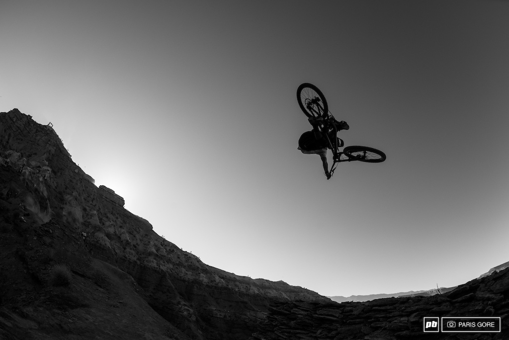 Graham Aggasiz blasting the hip into the last light.