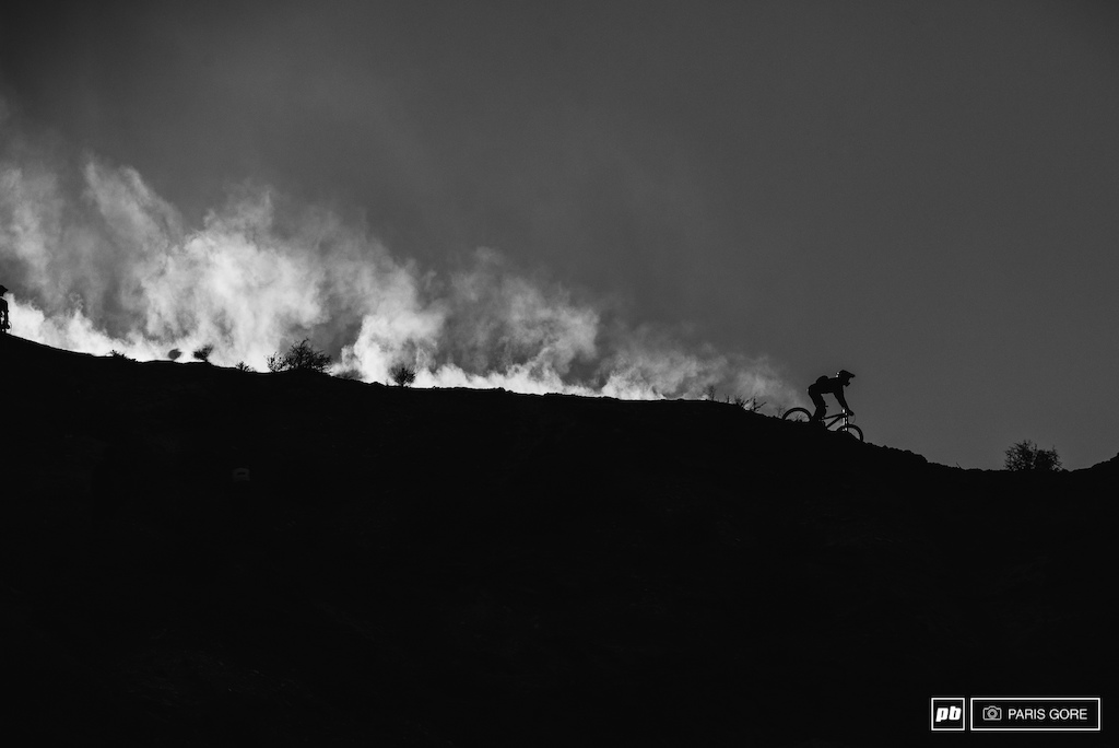 Dust trails and silhouette s.
