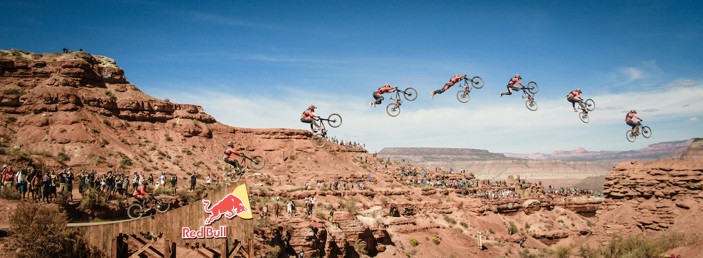 I took this photo today at the Red Bull Rampage 10th edition. Forgot my tripod but managed to stitch them up! Great day.