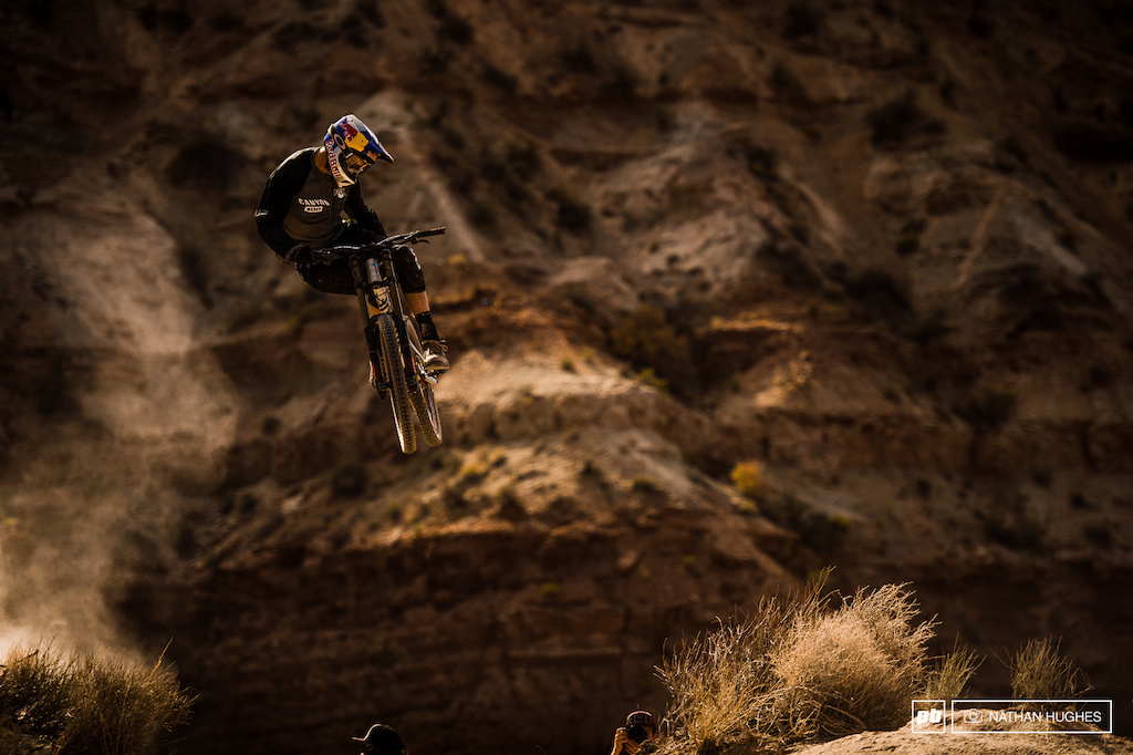 Thomas Genon s always been more of a Crankworx guy but looks to be coming well into his own in the Utah dust.
