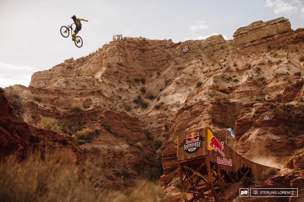 Remy Metailler at RedBull Rampage 2015 Virgin Utah USA