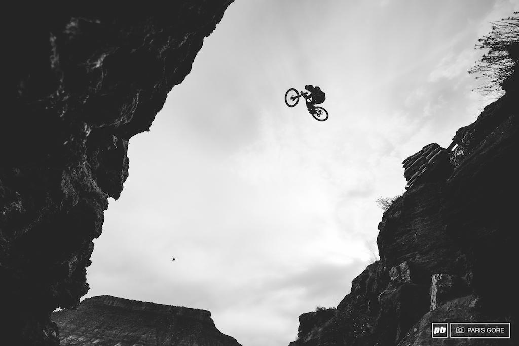 Brendan Fairclough sending over his first of two canyon gaps.