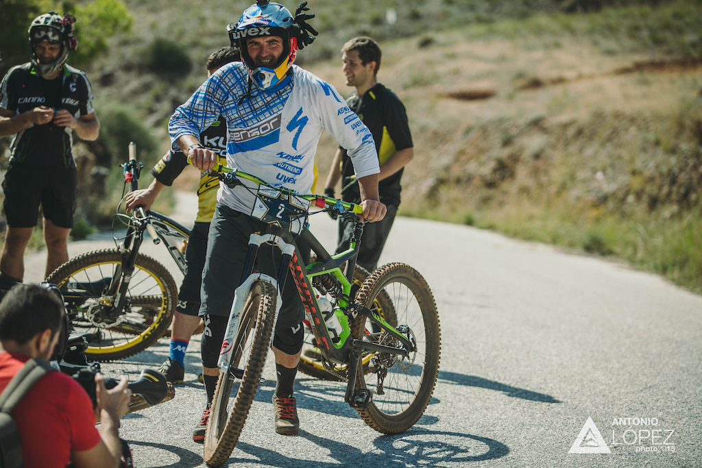 Michael Prokop (CZE) during the practice for the 5th stop of the European Enduro Series at Malaga / Benalmadena, Spain, on October 17, 2015. Free image for editorial usage only: Photo by Antonio Lopez