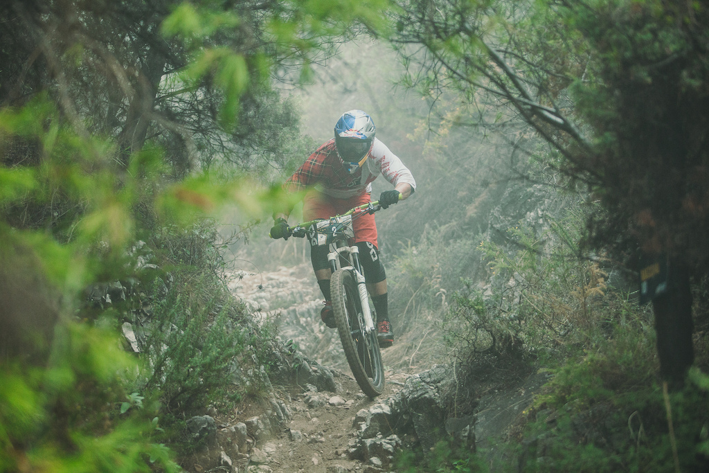 Michal Prokop CZE races down the stage (No. 4) during the 5th stop of the European Enduro Series in Malaga / Benalmadena, Spain, on October 18, 2015. Free image for editorial usage only: Photo by Antonio Lopez