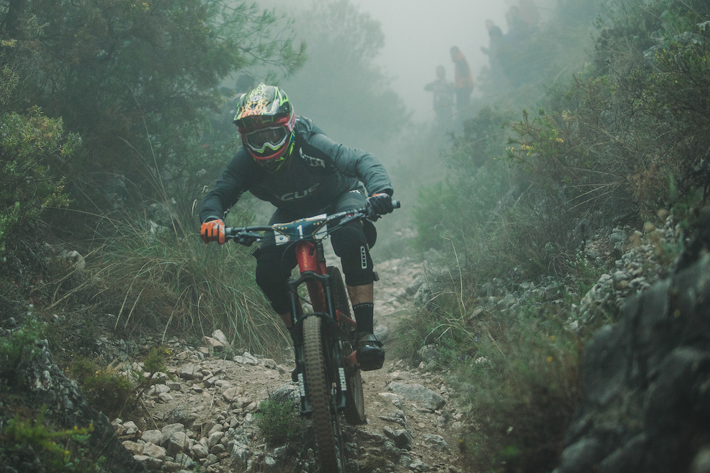 Markus Reiser from Germany races down the stage (No. 4) during the 5th stop of the European Enduro Series in Malaga / Benalmadena, Spain, on October 18, 2015. Free image for editorial usage only: Photo by Antonio Lopez