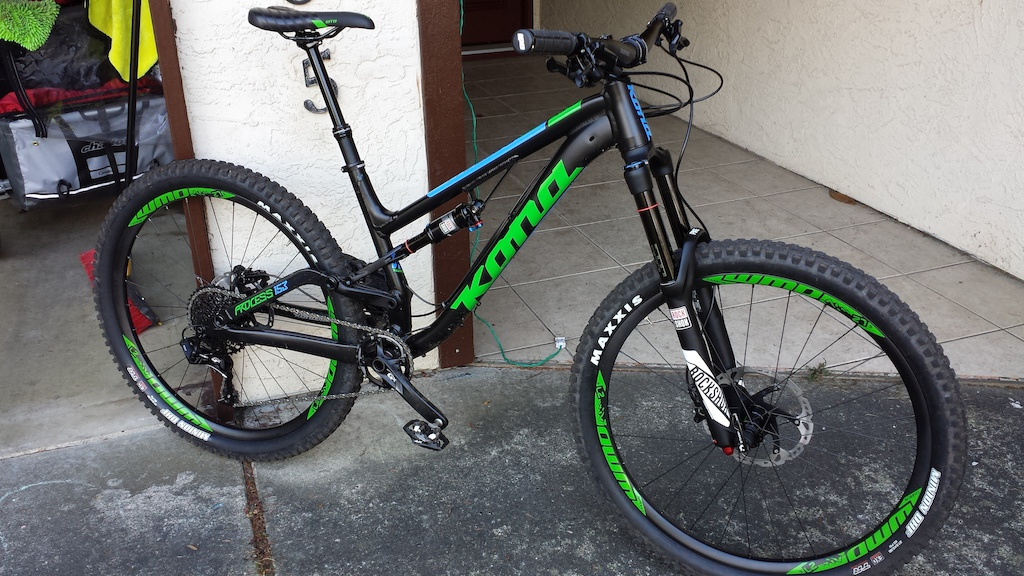 2016 Kona Process 153 with WMD carbon wheels