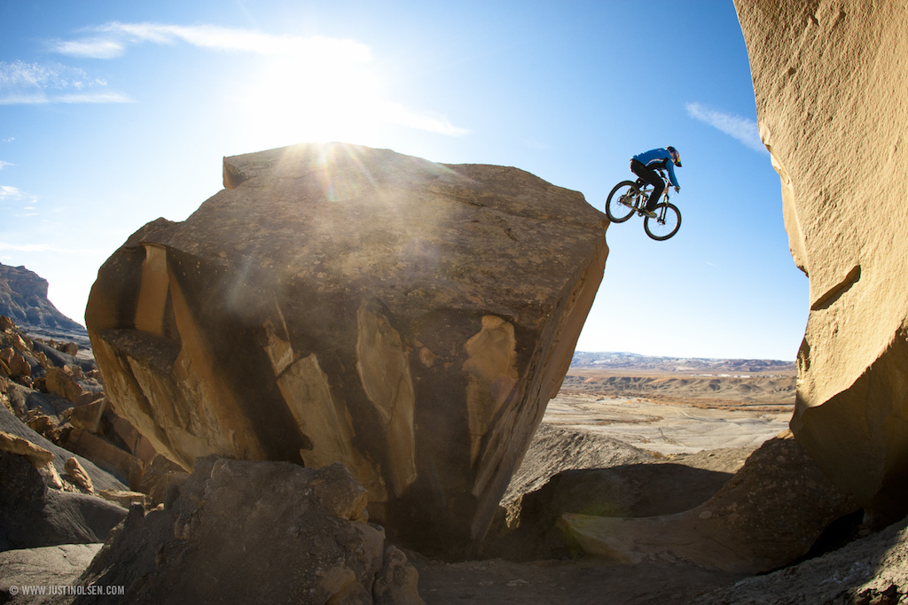 "This image originally appeared in BIKE Magazine, and was Paul's first two page photo spread. This image was captured by photographer Justin Olsen during production of the mountain bike film ""Where The Trail Ends"" by Freeride Entertainment / Red Bull Media House.  