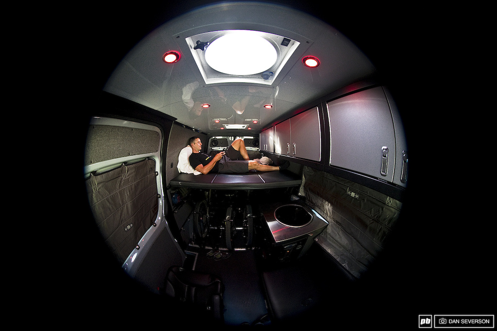 Images for article on Brian Lopes Custom Sprinter Van