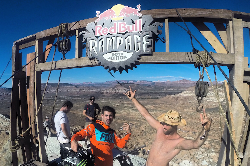 At the top of the Red Bull Rampage with Sam Reynolds in 2015