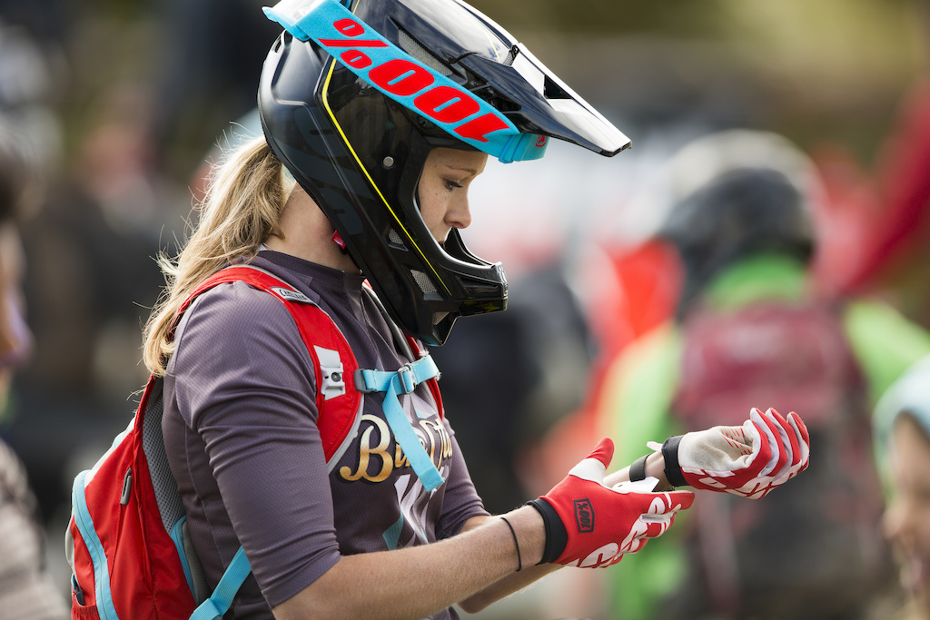 Rae Morrison of Paraparaumu rebounded back from a delayed start to win Day 1 of the 2015 Urge 3 Peaks Enduro mountain biking race held in Dunedin New Zealand.