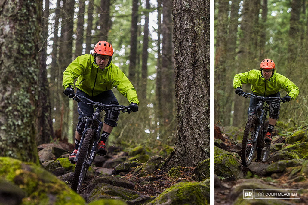 Tyler Horton riding in Post Canyon outside of Hood RIver OR.