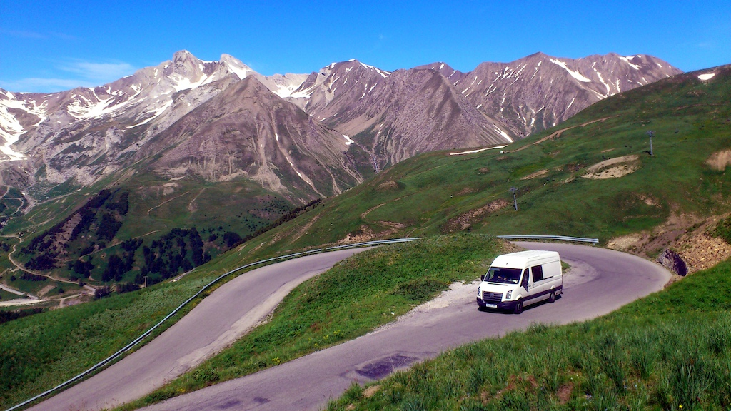 On the road - one of many mountain passes - summer 2013