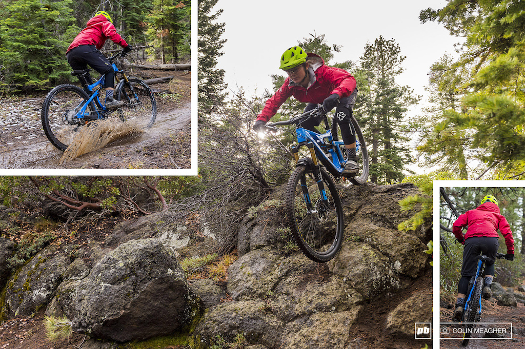 Nikki Rohan testing Fall Winter Riding clothing for Pinkbike in Bend OR in 2015