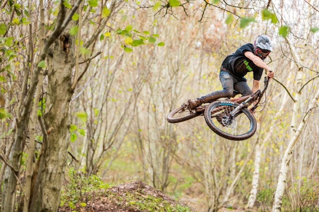 Wild man Joel Anderson gets rad at the Black Mountains Cycle Centre