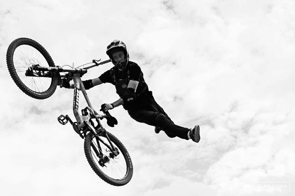 Local stunt guru Ryan Davis with style for days.
