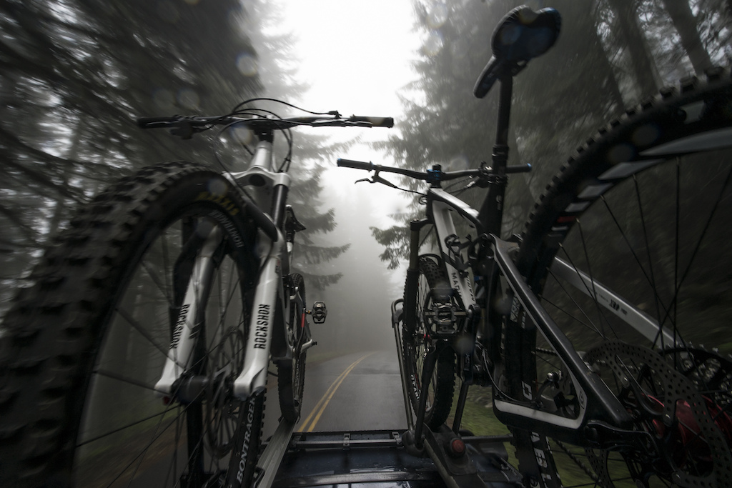 After dumping the majority of our belongings into storage in Colorado we headed straight for our parents houses in Oregon. We promptly got to the business of riding bikes. Rainy day shuttles on Mary s Peak in Oregon was just the way to start things off.