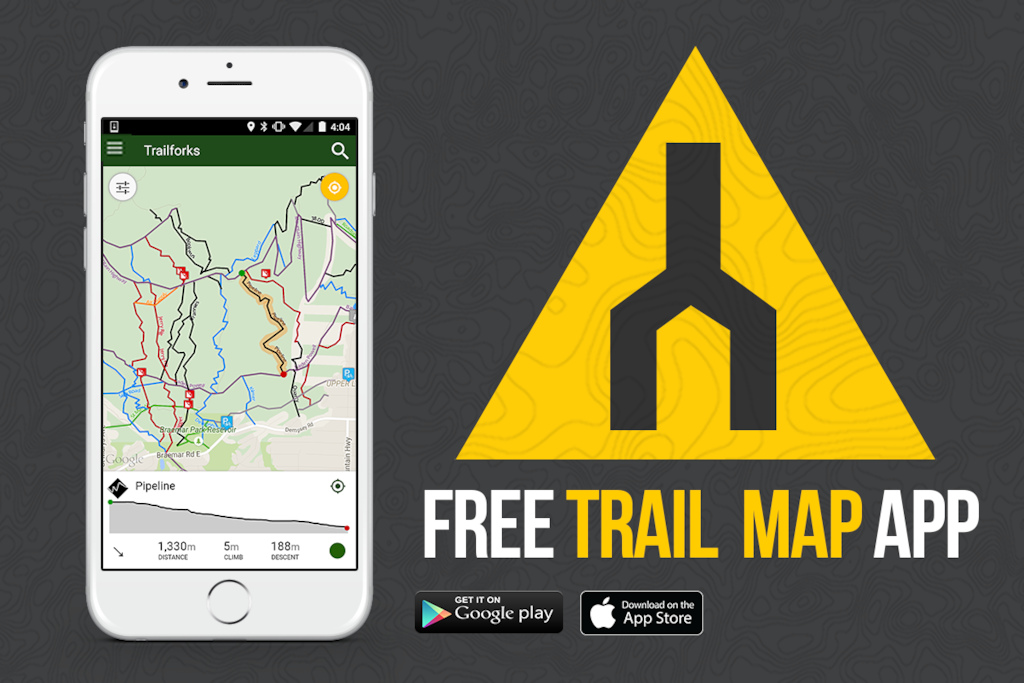 free trail map app