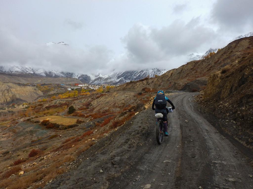 Knocking out the big climb to Muktinath
