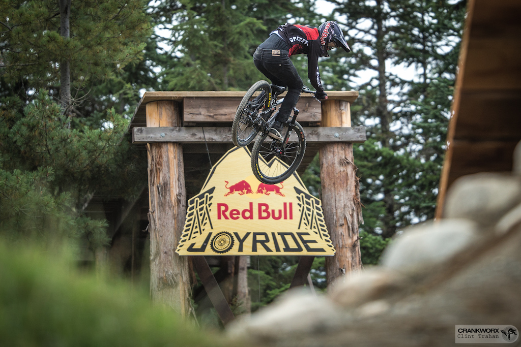 Brandon Semenuk at the Red Bull Joyride during Crankworx in Whistler British Columbia. Photo by clint trahan Crankworx