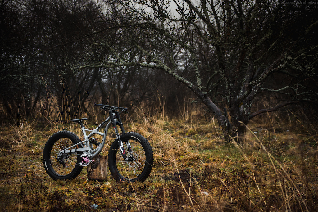 My new fat bike assembled on Kuvalda Bikes frame 160 mm rear travel (Sledgehammer on English)