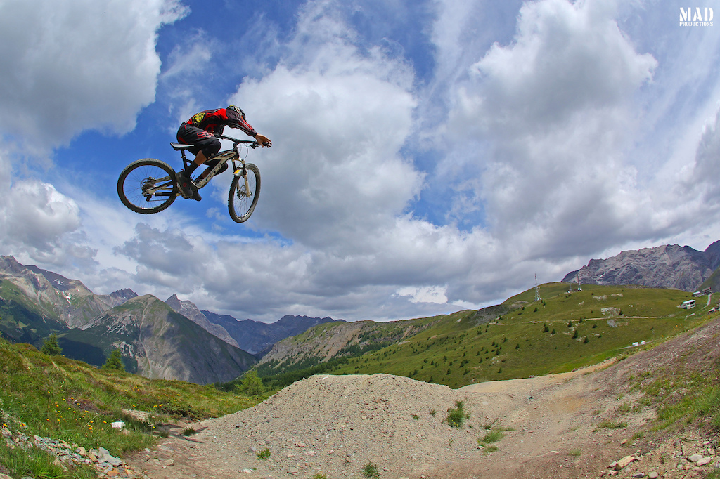 MAD boy, Rui Sousa, getting a bit of air time in Livigno.