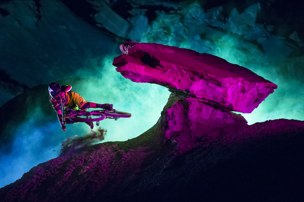 Graham Agassiz in Big Water, Utah during the night filming of Darklight by Sweetgrass Productions