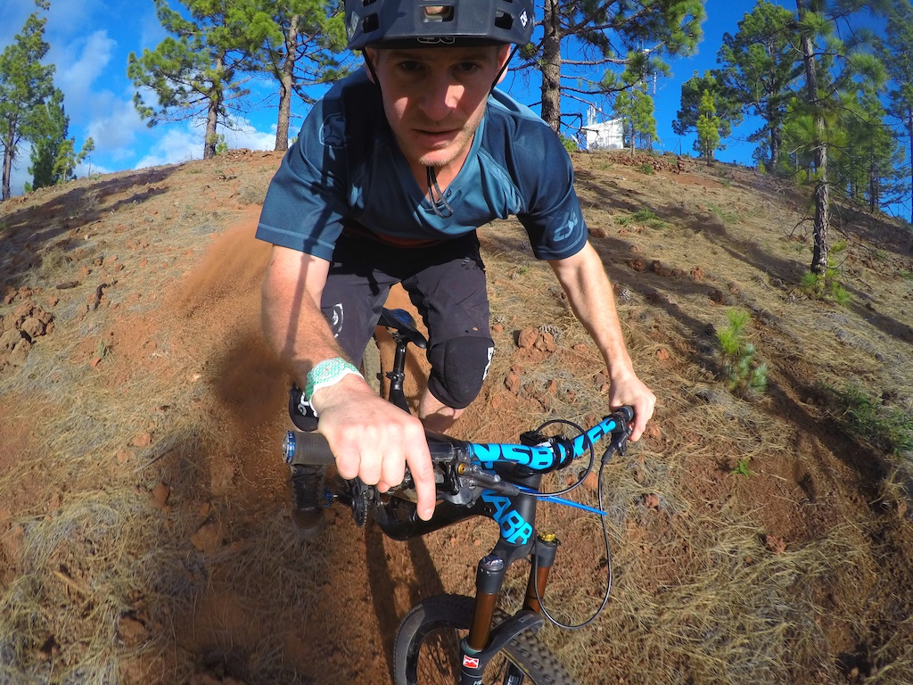 Making my own track through some woods in tenerife!