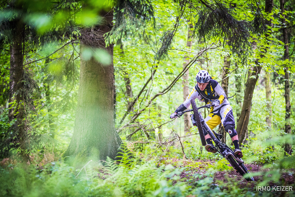 Martin Maes on his hometrails near Liege, Belgium.