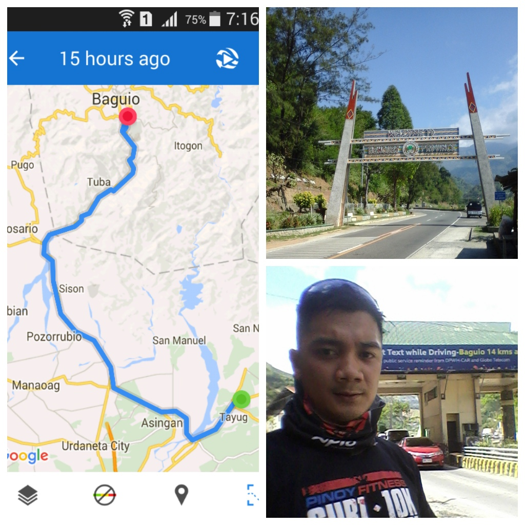 1st time to ride going up to Baguio City with 1,479 meters elevation gain 78.8 kms using an AM bike