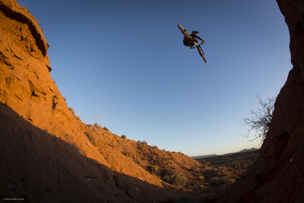 Cam Zink getting a nice sunset whip over this hip gap. Lemonade and Ducktape Stuffs, Utah.