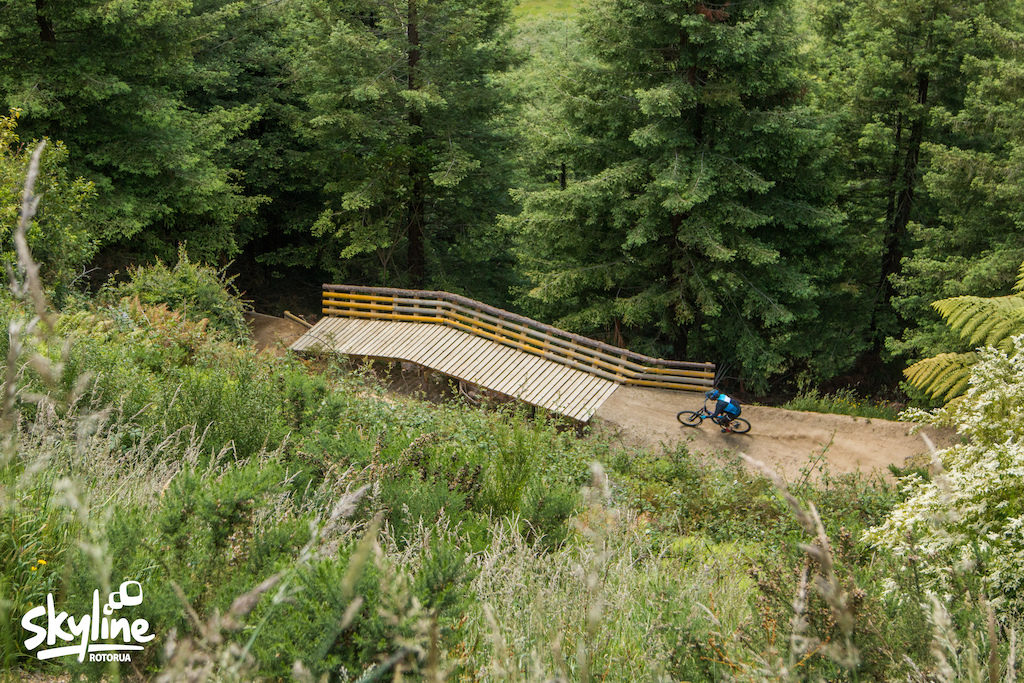 From Simple Jack to Mr. Black discover the epic transformation at Skyline Rotorua Gravity Park and ride the new line that boasts 32 jumpable features including tables step downs step ups sharks fins doubles as well as a road gap and wall ride all connected by massive sculpted berms.