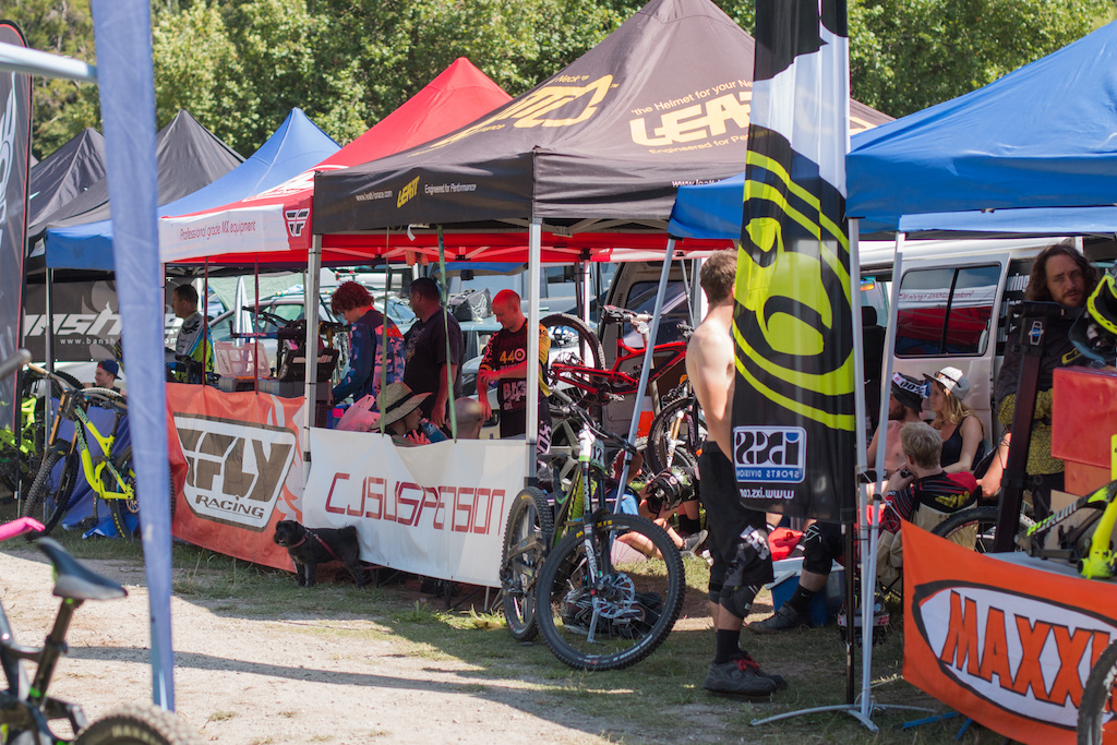 The pits were busy as riders were anxiously waiting for seeding to commence.