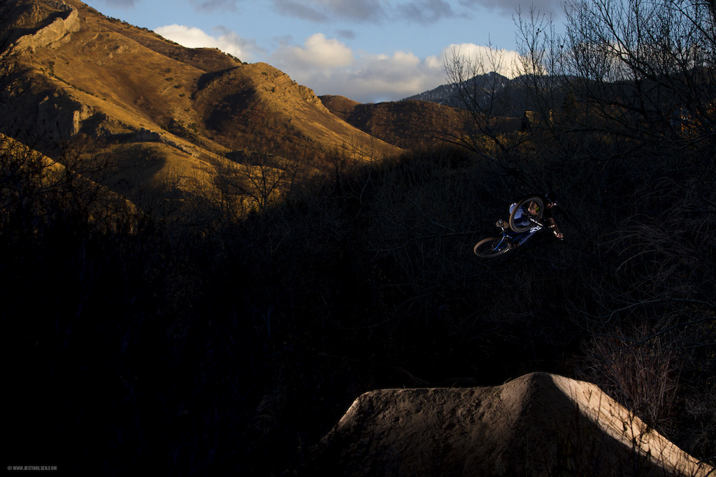December dirt jump sessions in Salt Lake City.