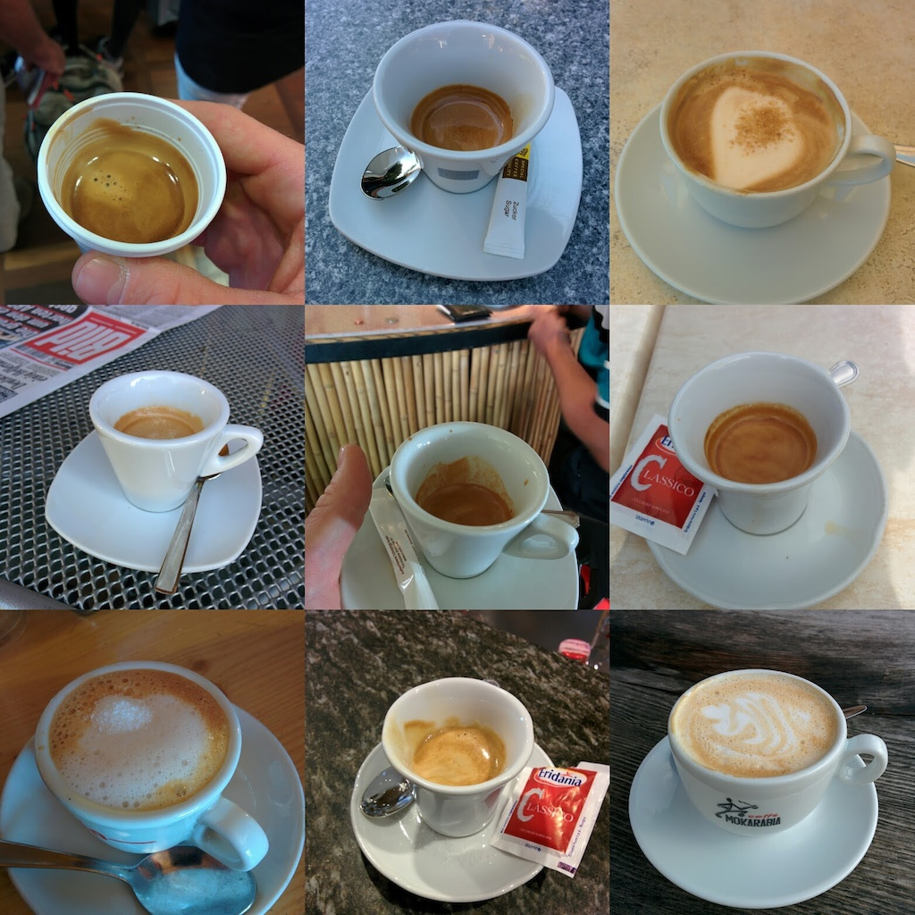It is Italy better drink a lot of espresso.