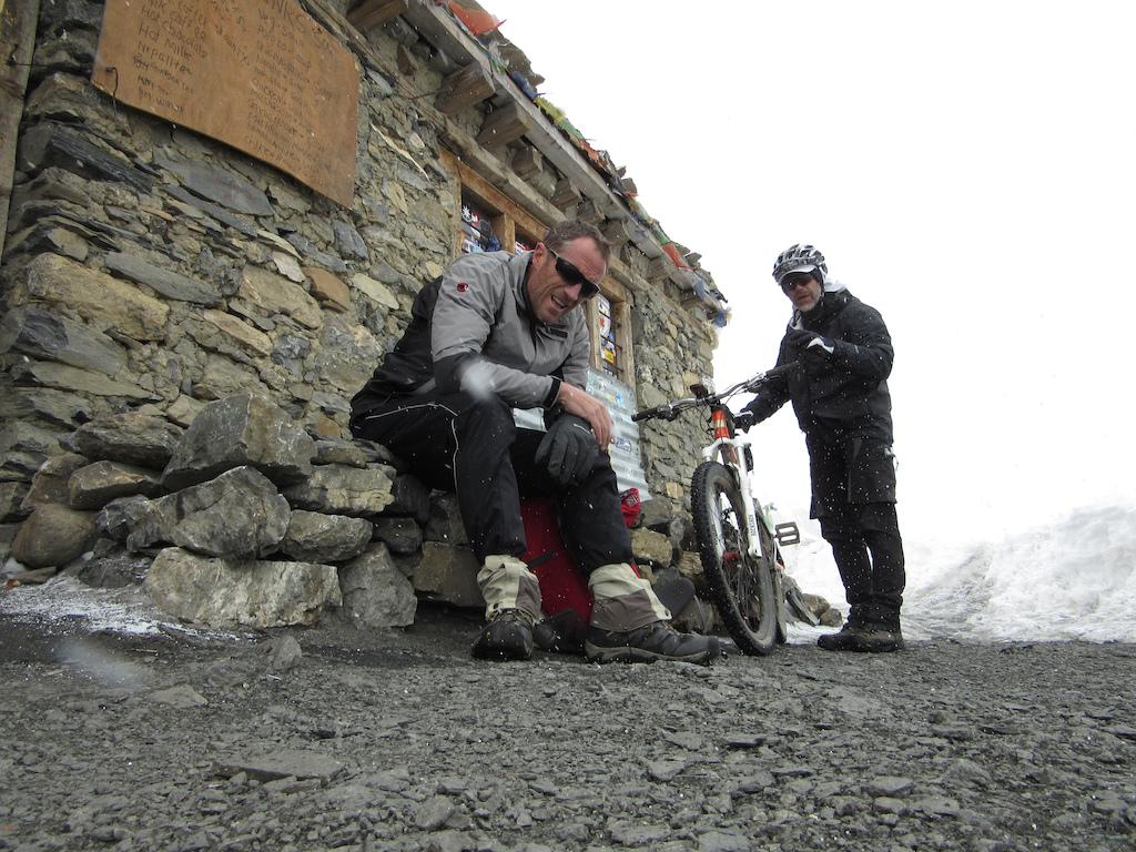 The last porters hut before 18000 feet.
