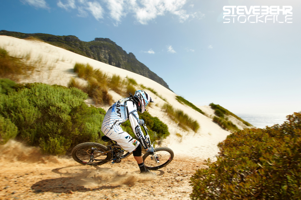 Andrew Neethling Giant mountain bike Cape Town South Africa . February 2012 pic copyright Steve Behr Stockfile