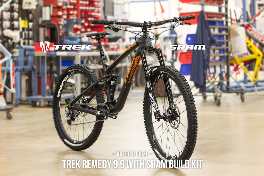 One lucky winner will be taking home this beauty from Trek and SRAM
