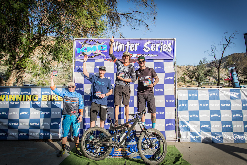 Super D enduro Men s Pro Podium. 1st place Leland Turner 04 48.38 2nd place Cody Masson 04 49.57 3rd place Evan Turpen 04 54.09 4th place Anthony Tintelnot 05 34.25