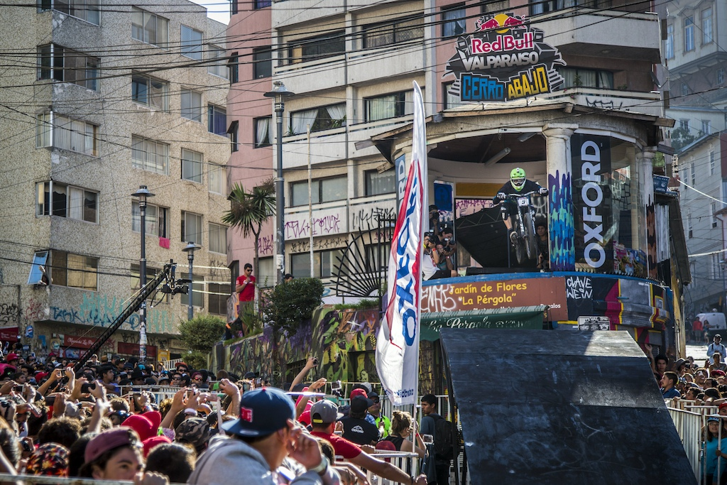 Johannes Fischbach performs during Red Bull Valparaiso Cerro Abajo in Valparaiso, Chile on February 21, 2016 // Fabio Piva/Red Bull Content Pool
