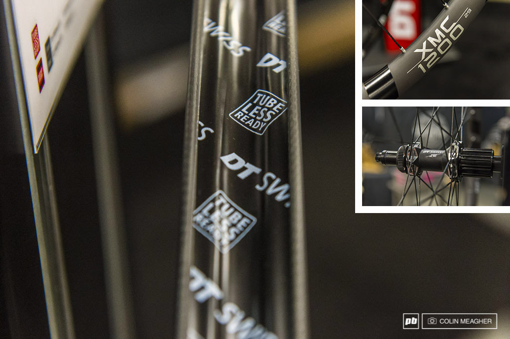 DT Swiss has their new carbon rimmed XMC 1200 wheels available for the masses. These are available in both 27.5 adn 29 sizes, boosted and non-boosted, and feature a proprietary tubeless rim tape, straight pull spokes, 24mm innner rim width hookless carbo hoops, and 240 level hubs (i.e. the rear hub engages with DTs legendary 36 point ratchet system). The wheels also come with a Shimano centerlock rotor or a 6 bolt rotor options as well as boost and non boost options. There is a 110kg (242.5lb) system weight limit, so clydesdale class riders will either have to either skip a few beers, go on a diet, or look elsewhere.