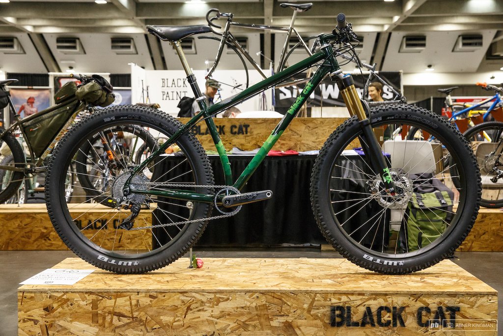 Black Cat Bicycles from Aptos California brought this 27.5 plus hardtail.