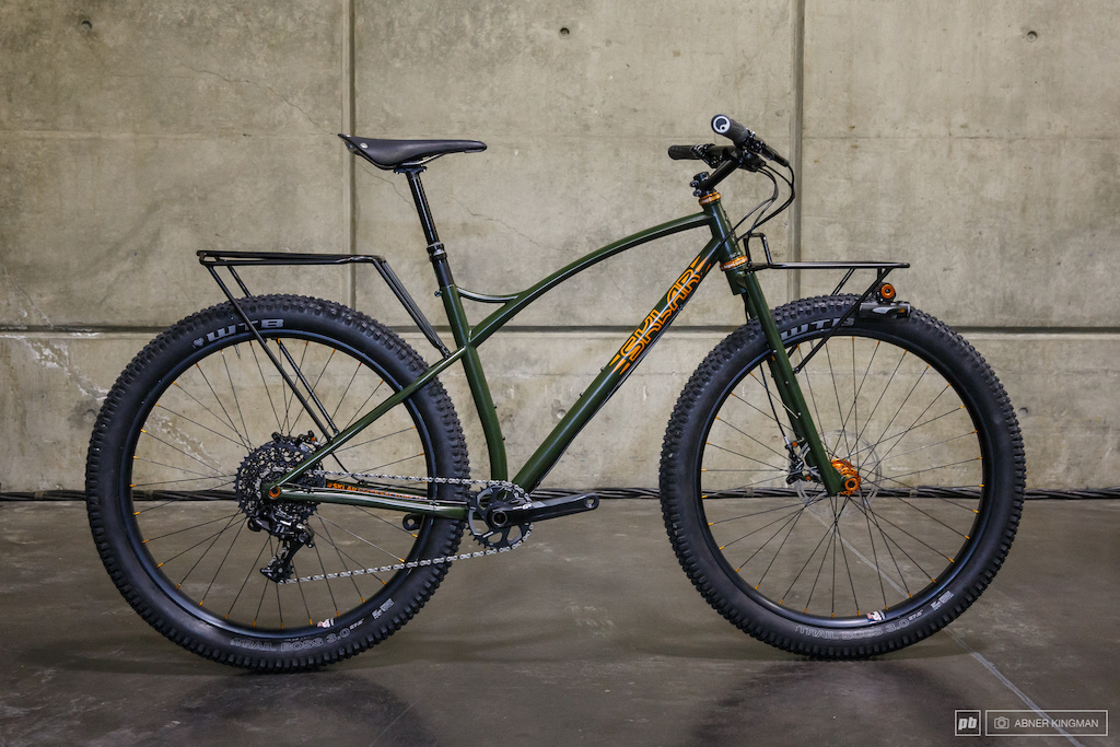 Adam Sklar of Sklar Bikes from Bozeman Montana just finished this 27.5 plus adventure bike for Joey Schusler.