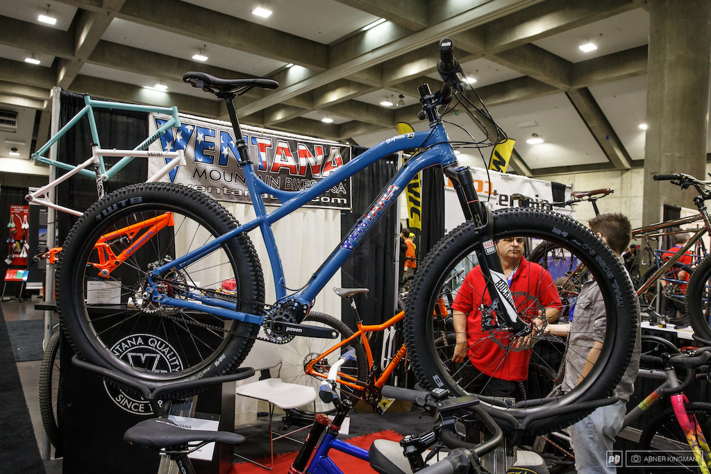 Ventana had their own aluminum 27.5 plus bike which they are offering with custom geometry hand built in Rancho Cordova CA. a glimpse of Sherwood Gibson Ventana founder and brain trust