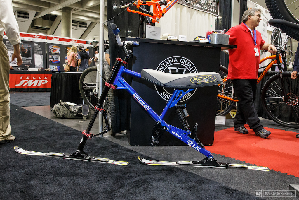 Ventana built this long travel ski bike for Don Koski, one of the mountain bike forefathers from Marin.
