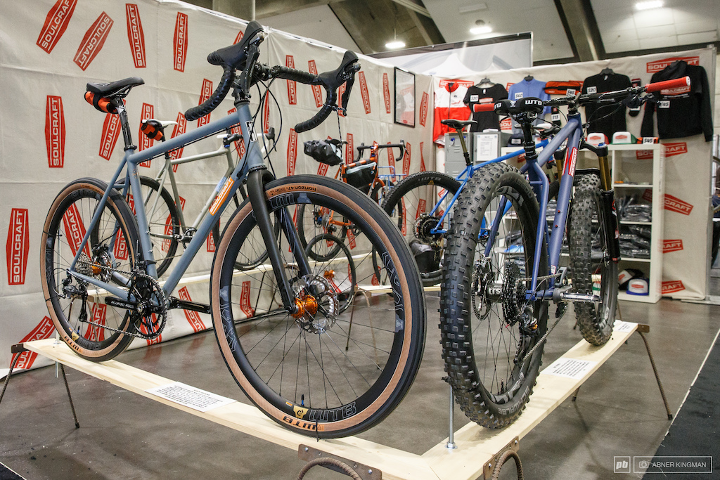 There may have been more fat and plus size mountain bike tires on display at the show than conventional ones. And there were even some high volume road tires with WTB releasing it s new 27.5 x 47c tire calling it road plus .