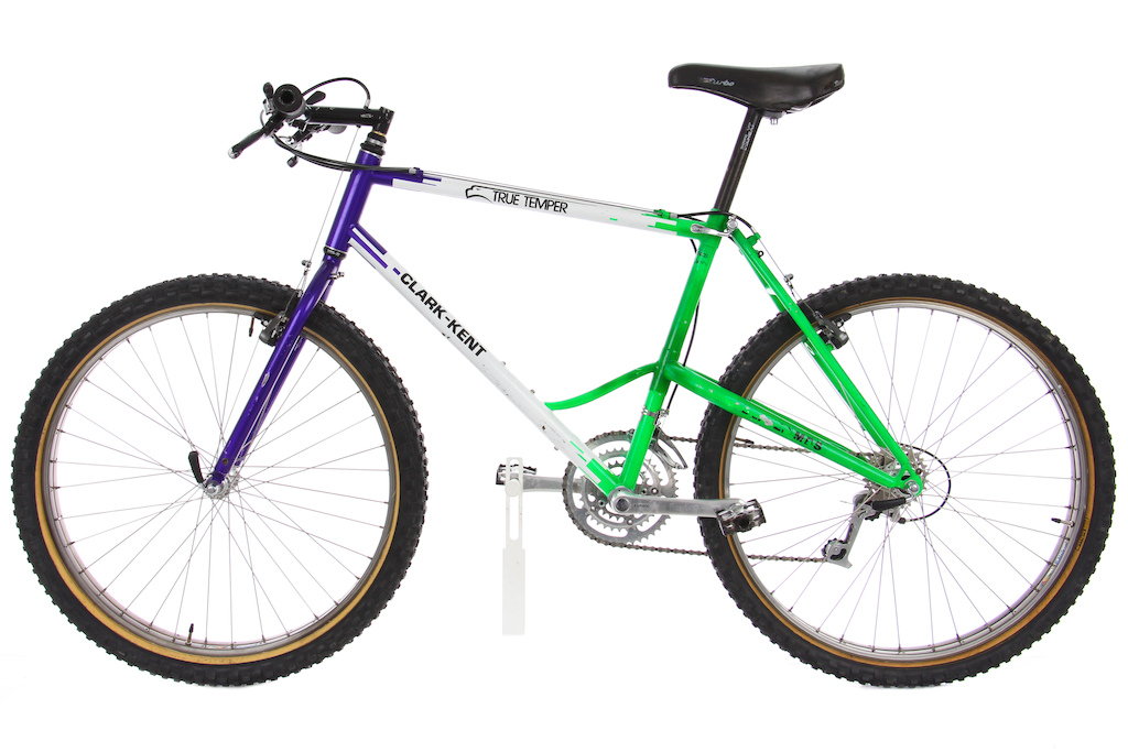 Early 90s Clark-Kent fat bike. Yes perhaps the very first fat bike Only two were ever made and it is believed this is the only surviving frame.