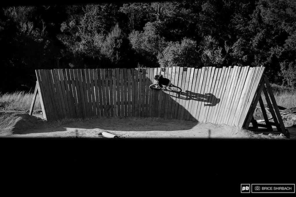 Ash rails the wallride that sits below the jump line.