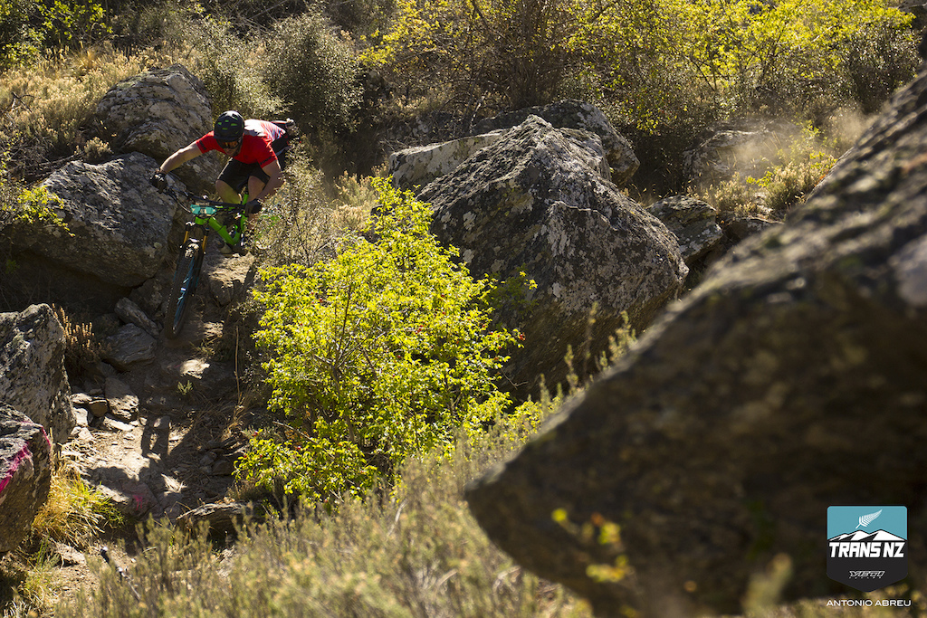 Dusty rock gardens and switchbacks definitely a challenge for riding it blind.