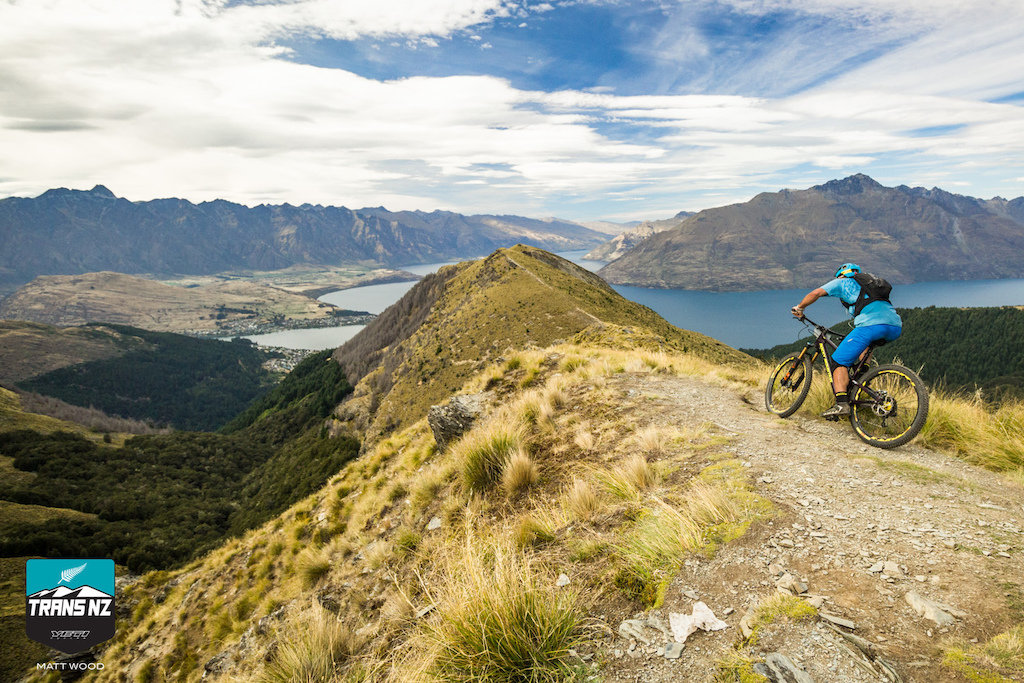 High above Queenstown on stage two.